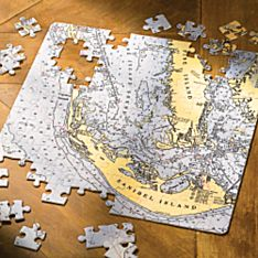 Personalized Custom Nautical Chart Puzzle