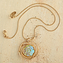 Gold-vermeil Roman Glass Necklace