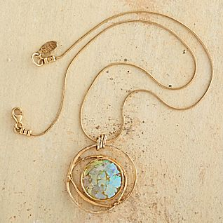 View Gold-vermeil Roman Glass Necklace image