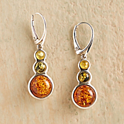 Tricolor Baltic Amber Earrings