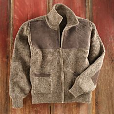 Wool Knit Cardigan Sweater