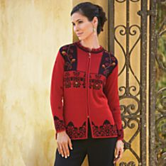 Traditional Wool Cardigan for Women