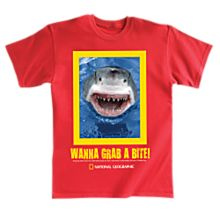 Imported Wanna Grab A Bite! Shark Adult T-Shirt