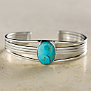 Navajo Turquoise and Sterling Cuff Bracelet