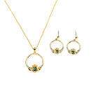 Gold-plated Claddagh Necklace