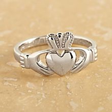 Handcrafted Sterling Silver Claddagh Ring