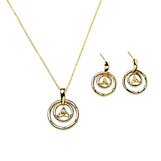 Gold-plated Trinity Circles Earrings