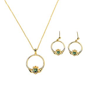 View Gold-plated Claddagh Earrings image
