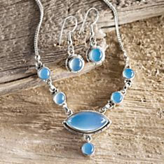 Handcrafted Marmara Sea Chalcedony Necklace