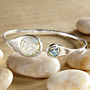Sterling Silver Roman Glass Bracelet