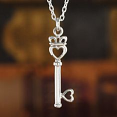Irish Claddagh ''Key to My Heart'' Sterling Silver Pendant