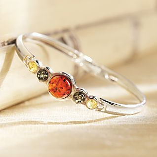 View Tricolor Baltic Amber Bracelet image