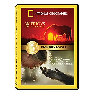 From the National Geographic Archives: Jane Goodall: My Life With Chimpanzees and America's Lost Mustangs DVD