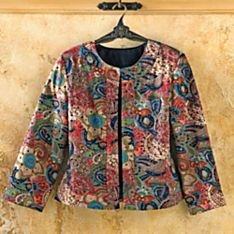 100% Cotton Shalimar Garden Paisley Jacket