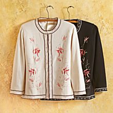 Womens Black Travel Cardigans