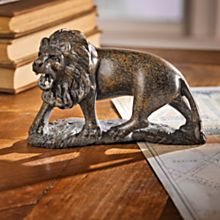 Handcrafted Zimbabwe Lion Sculpture