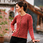 Bolivian Rose Pima Cotton Cardigan