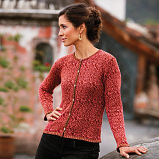 View Bolivian Rose Pima Cotton Cardigan image