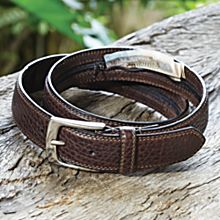 Bison Leather Travel Belt, Made in China