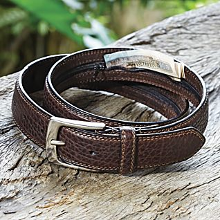 View Bison Leather Travel Belt image