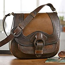Handcrafted Bolivian Tooled Leather Bag