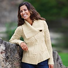 Women's Irish Asymmetrical Cardigan