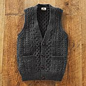 Men's Irish Sweater Vest - Get Details