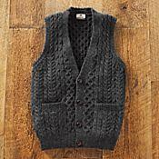 Men's Irish Sweater Vest - Get Details
