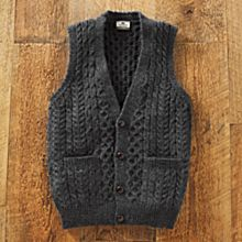 Men's Irish Sweater Vest, Made in Ireland