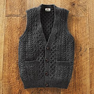 View Men's Irish Sweater Vest image
