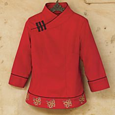 Chinese Embroidered Peony Blouse