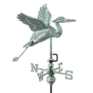 View Blue Heron Weather Vane with Roof Mount image