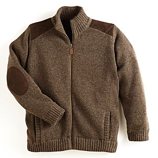 Scottish Wind-Resistant Wool Cardigan
