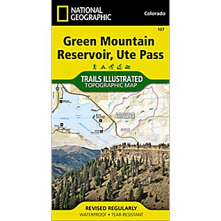 National Geographic Green Mountain Reservoir/Ute Pass Trail Map