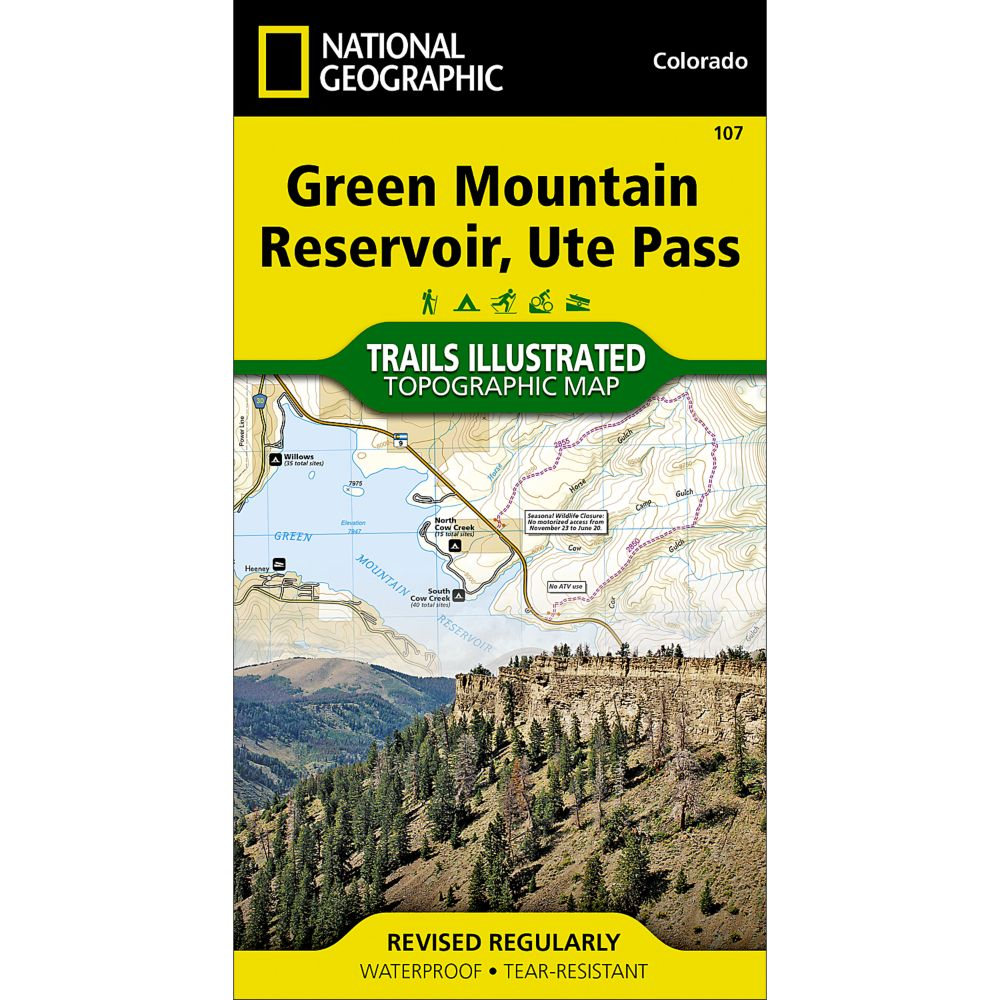 photo: National Geographic Green Mountain Reservoir/Ute Pass Trail Map