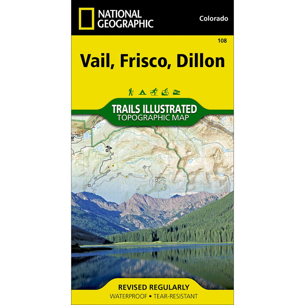 National Geographic Vail/Frisco/Dillon Trail Map