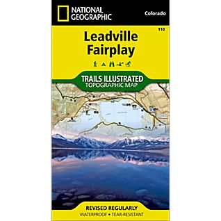 photo: National Geographic Leadville/Fairplay Map us mountain states paper map