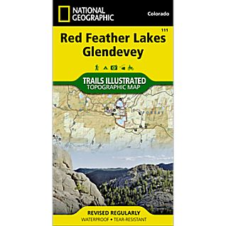 National Geographic Red Feather Lakes/Glendevey Trail Map