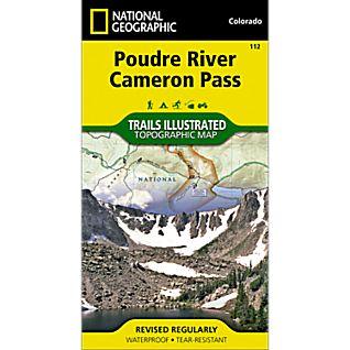 National Geographic Poudre River/Cameron Pass Trail Map