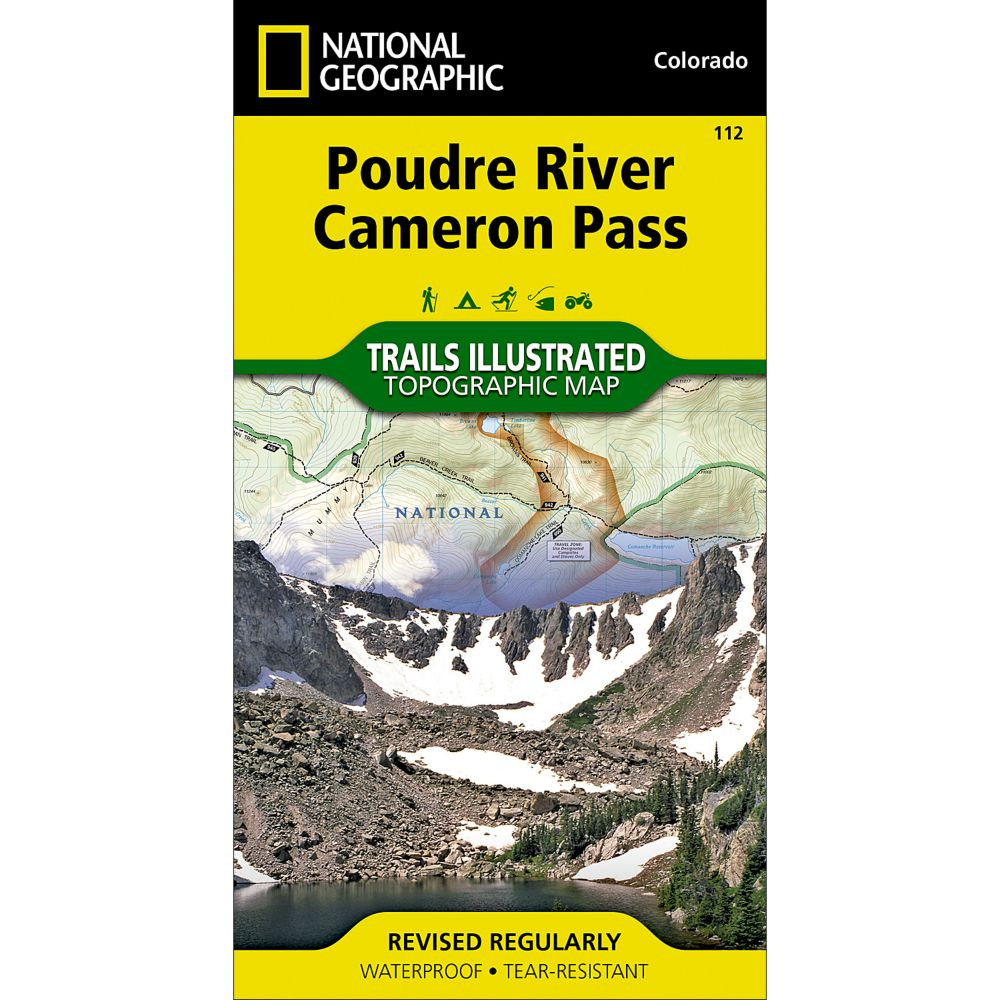 photo: National Geographic Poudre River/Cameron Pass Trail Map  us mountain states paper map