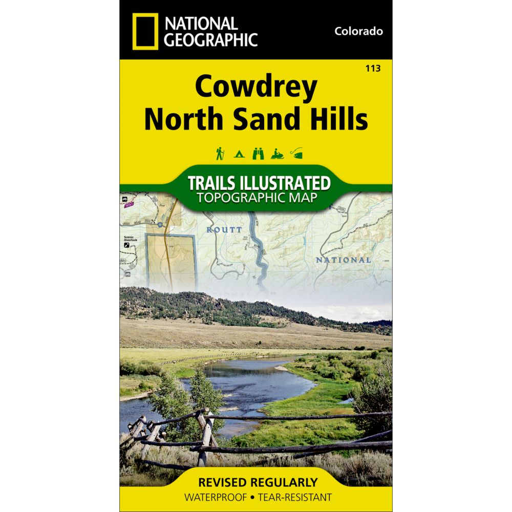 photo: National Geographic Cowdrey/North Sand Hills Trail Map  us mountain states paper map