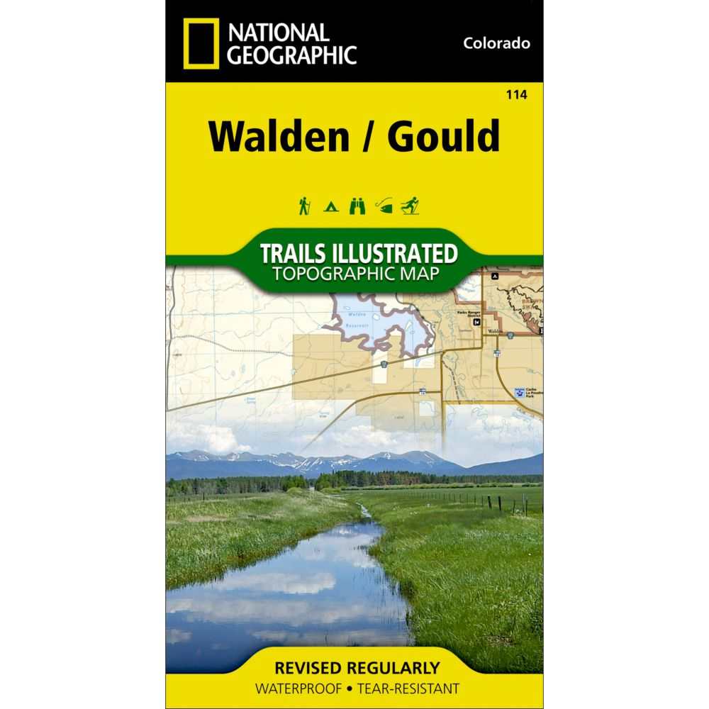 National Geographic Walden/Gould Trail Map