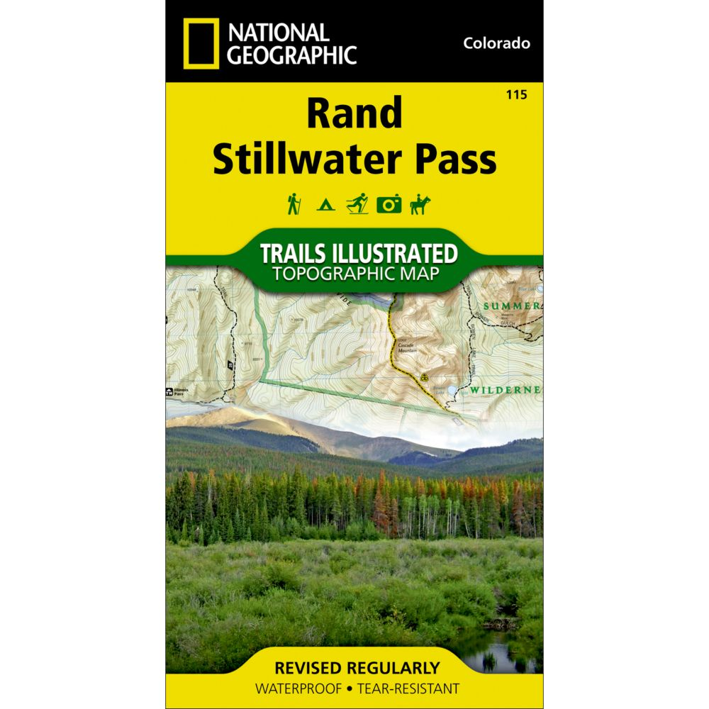 photo: National Geographic Rand/Stillwater Pass Trail Map