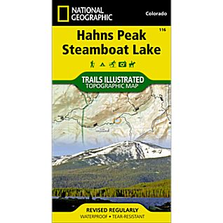 116 Hahns Peak/Steamboat Lake Trail Map
