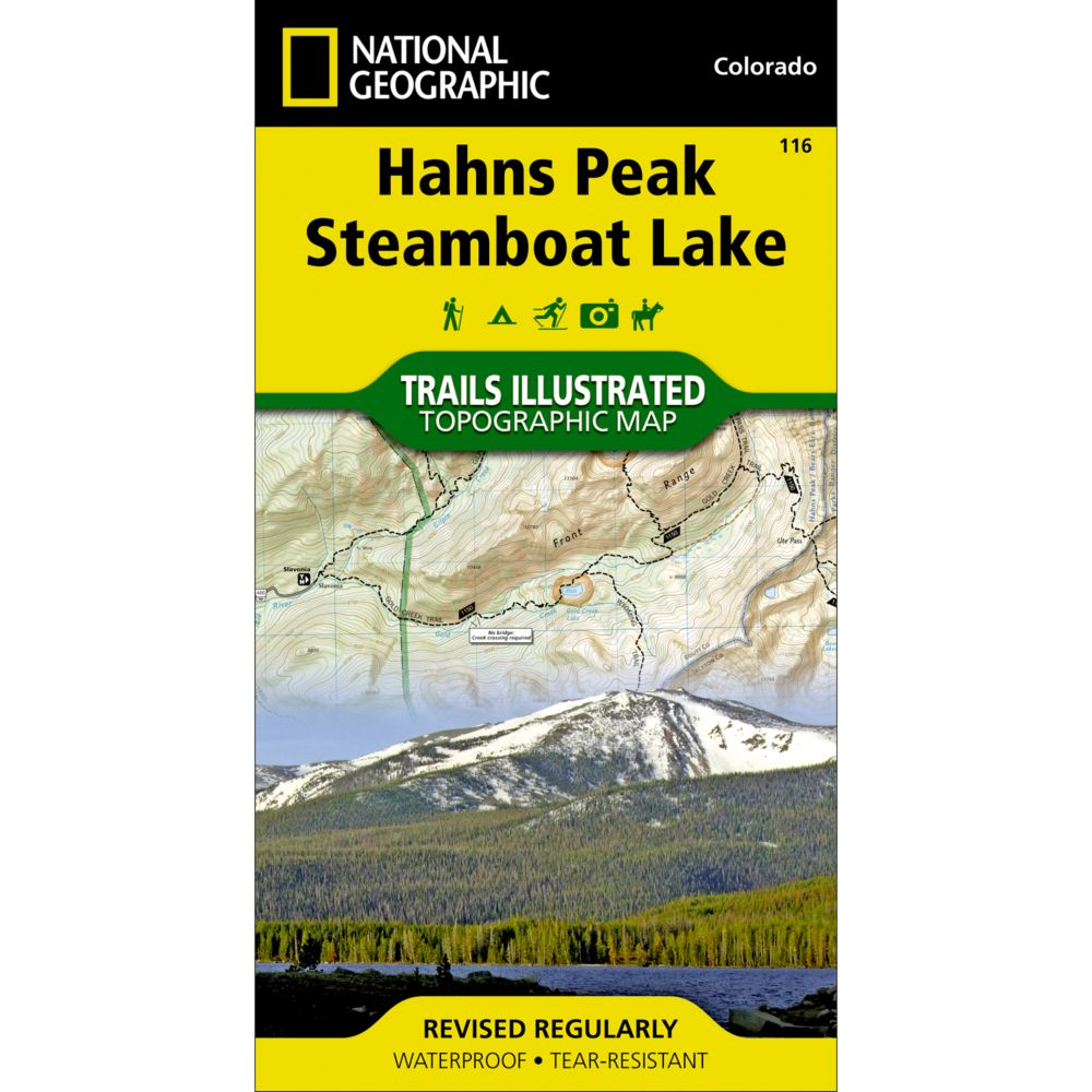 photo: National Geographic Hahns Peak/Steamboat Lake Trail Map  us mountain states paper map