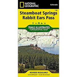 National Geographic Steamboat Springs/Rabbit Ears Pass Trail Map