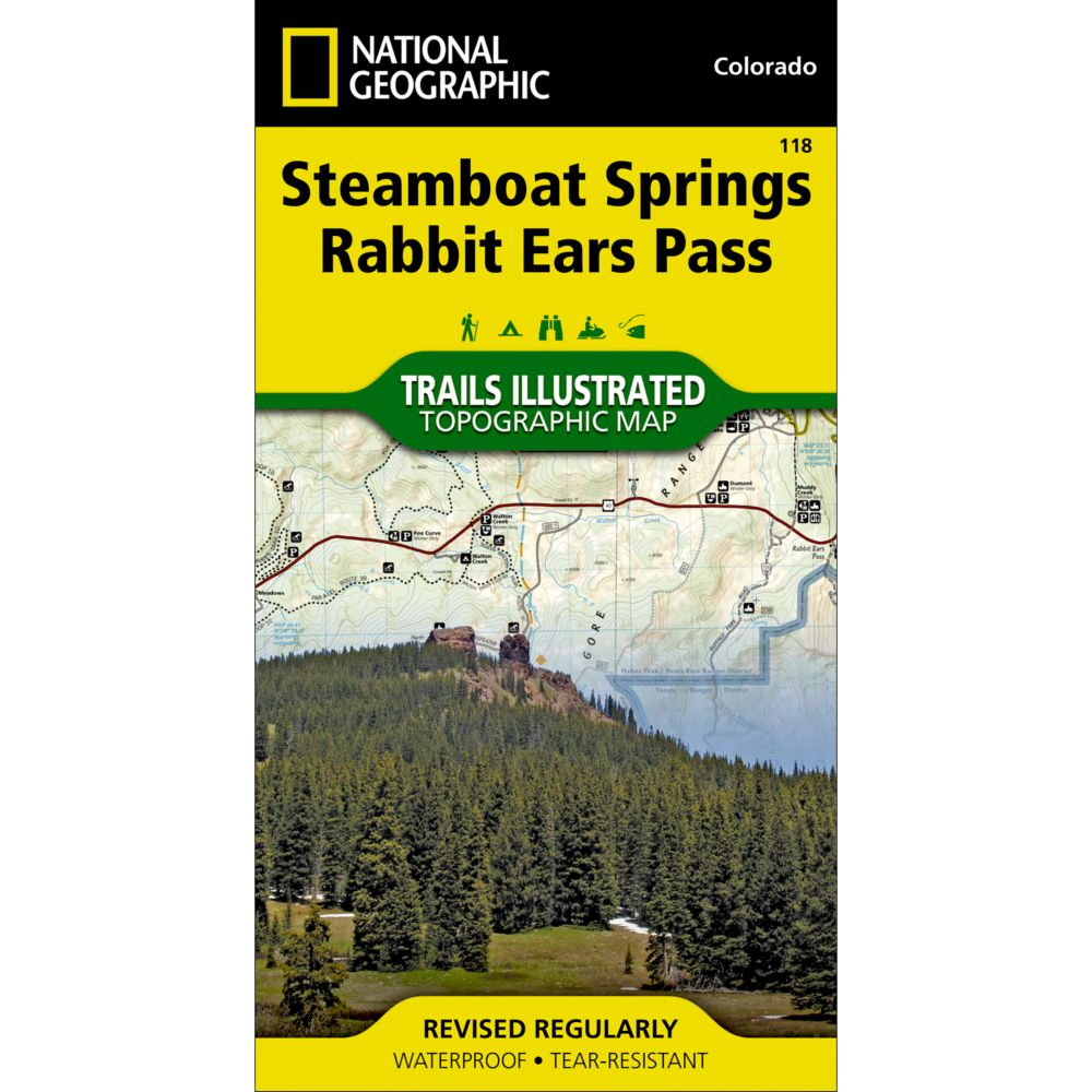 photo: National Geographic Steamboat Springs/Rabbit Ears Pass Trail Map