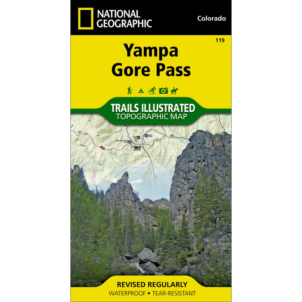 photo: National Geographic Yampa/Gore Pass Trail Map  us mountain states paper map