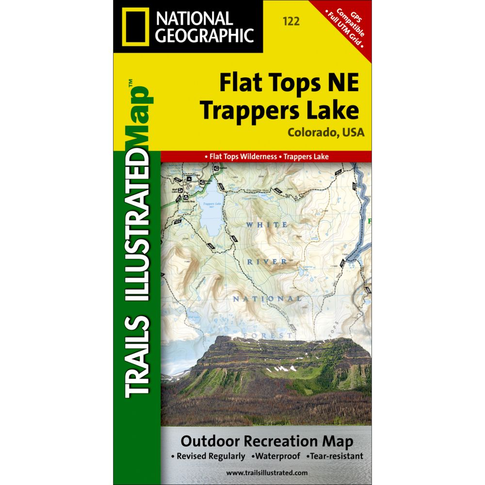 photo: National Geographic Flat Tops NE/Trappers Lake Trail Map