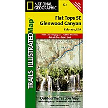 123 Flat Tops Se/Glenwood Canyon Trail Map, 1996